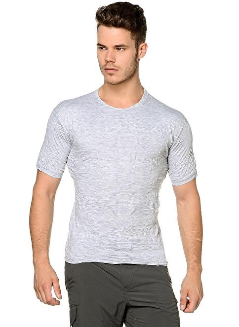 T-Box Slim Fit Tişört Gri